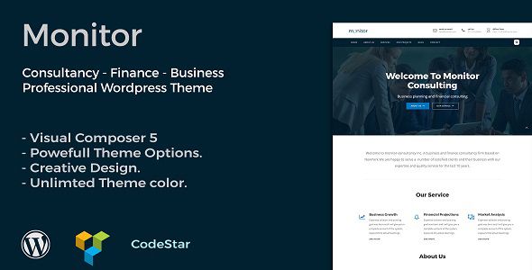Monitor | Consulting & Business WordPress Theme - Business Corporate TFx Alphonso Liam