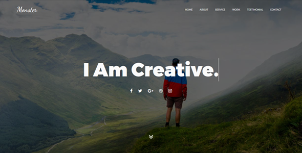 Monster - OnePage Personal Joomla! Template - Personal Blog / Magazine TFx Tayler Rodolph