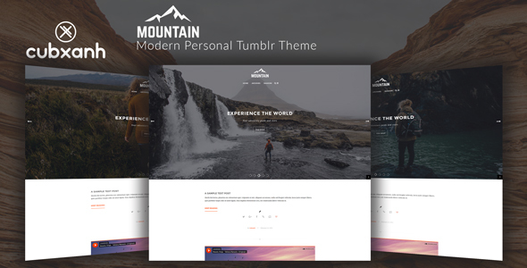 Mountain - Modern Personal Tumblr Theme - Blog Tumblr TFx Walton Alphonzo