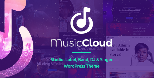 Music Club - Studio, Label, Band, DJ or Singer WordPress Theme - Music and Bands Entertainment TFx Conway Cortney