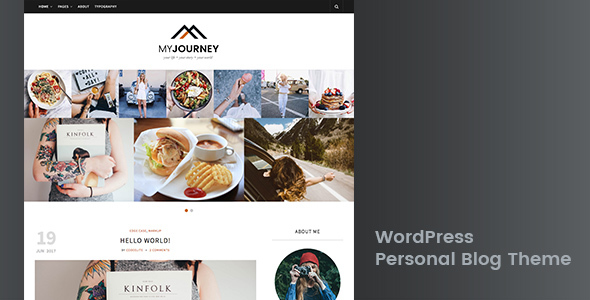 My Journey - Personal Blog WordPress Theme - Personal Blog / Magazine TFx Quincy Kaeden