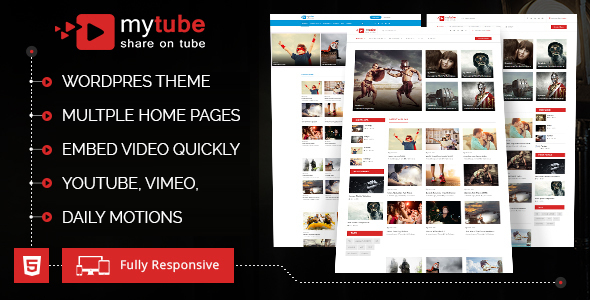 MyTube – Video WordPress Theme – Entertainment WordPress TFx Faramond Steve