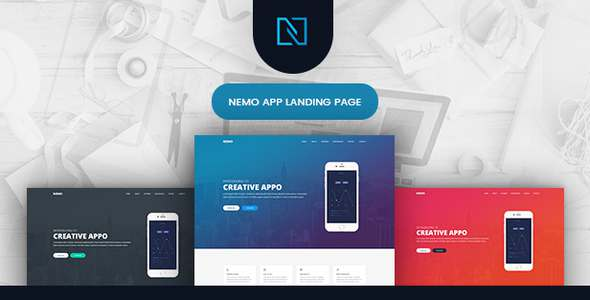 Nemo - App Showcase Landing Page - Software Technology TFx Daisuke Steve