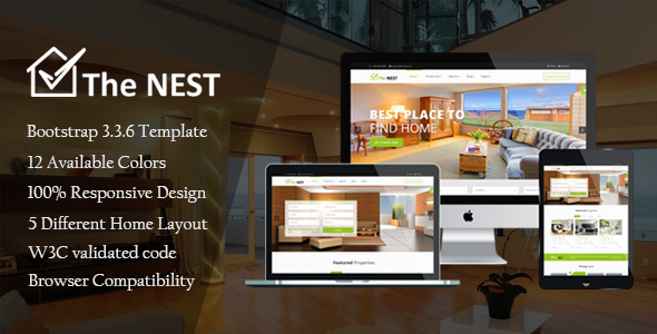 Nest - Real Estate HTML Template - Business Corporate TFx Dorian Timour