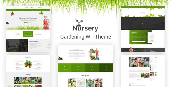 Nursery - Gardening and Landscaping WordPress Theme - Business Corporate TFx Dan Kenith