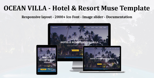 OCEAN VILLA - Hotel & Resort Muse Template - Miscellaneous Muse Templates TFx Brenden Melvin