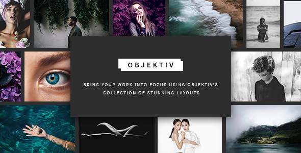 Objektiv - A Contemporary and Clean Photography Theme - Photography Creative TFx Everette Sachie