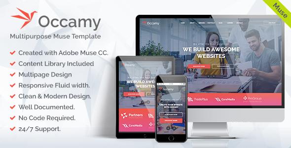 Occamy - Corporate Multipurpose Muse Template - Corporate Muse Templates TFx Des Mortimer
