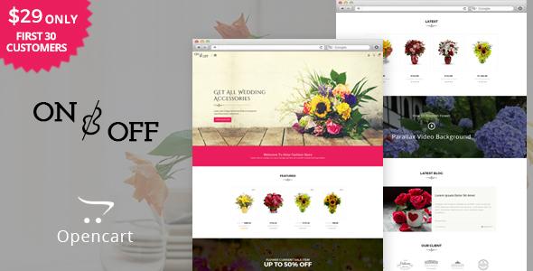 On Off - Flowers & Multipurpose OpenCart Theme - Miscellaneous OpenCart TFx Gabby Zechariah