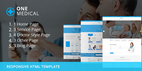 OneMedical - Responsive Bootstrap Template - Health & Beauty Retail TFx Peregrine Creighton