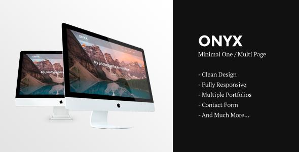 Onyx | Creative Responsive Minimal HTML Template - Creative Site Templates TFx Tranter Cowessess