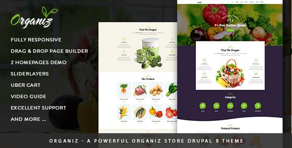 Organiz - A Powerful Organiz Store Drupal 8 Theme - Retail Drupal TFx Oswin Vortigern