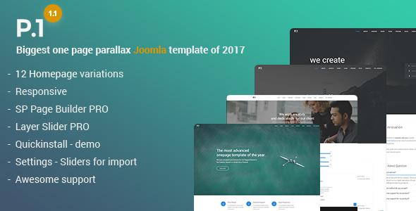 P1 - Responsive Multipurpose Business Joomla Theme - Corporate Joomla TFx Rafferty Garland