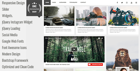 Patika - Responsive Blog HTML Template - Personal Site Templates TFx Davy Daly