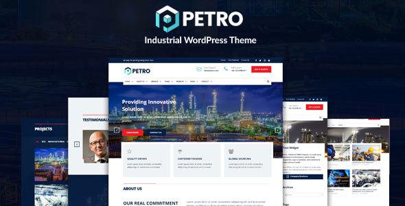 Petro - Oil Industry and Engineering Factory WordPress Theme - Business Corporate TFx Haruka Buana