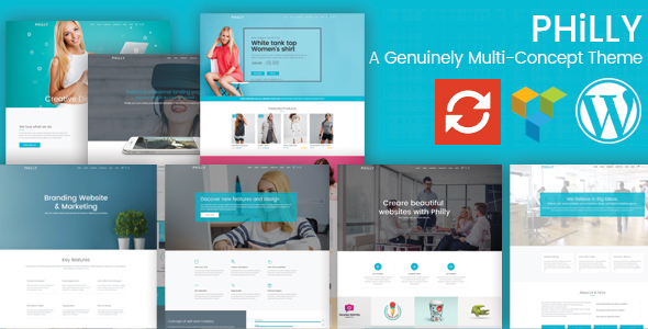 Philly - A Genuinely Multi-Concept Theme - Creative WordPress TFx Shirou Collin