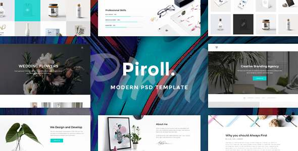 Piroll - Modern & Minimal Portfolio PSD Template - Creative PSD Templates TFx Hayden Anselm