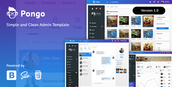 Pongo - Simple & Clean Admin Template - Admin Templates Site Templates TFx Theobald Ivor