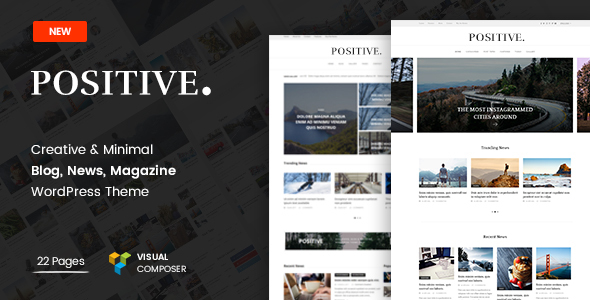Positive - Blog, News, Magazine WordPress Theme - Blog / Magazine WordPress TFx Barrett Warren