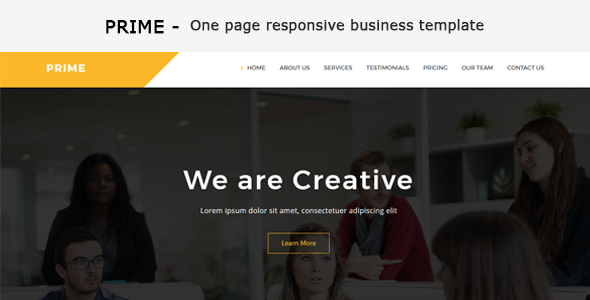 Prime - One Page Business Responsive HTML Template - Business Corporate TFx Washington Gaz