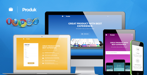 Produk Responsive Showcase Landing Page – Apps Technology TFx Hayden Flavian