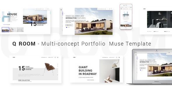 Q ROOM - Multi-concept Portfolio  Muse Template - Creative Muse Templates TFx Ryota Braeden