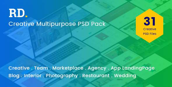 RD Multipurpose PSD Template - Corporate PSD Templates TFx Mike Anderson