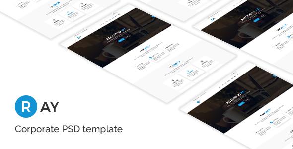 Ray - Corporate PSD Template - Marketing Corporate TFx Jonah Ari