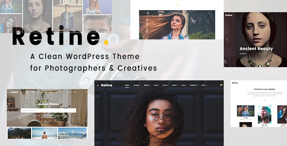 Retine - A WordPress Theme for Photographers and Creatives - Photography Creative TFx Komang Darian