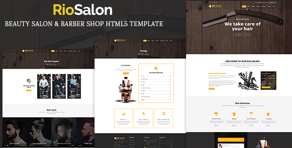 RioSalon - Beauty Salon & Barber HTML5 Template - Health & Beauty Retail TFx Ozzie Kelly