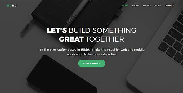 Rong - Personal Portfolio Template - Personal Site Templates TFx Mitchell Constantine