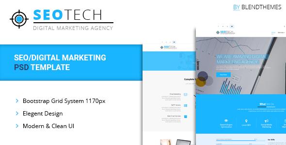 SEOTECH - SEO / Digital Marketing PSD Template - Technology PSD Templates TFx Egbert Nanook