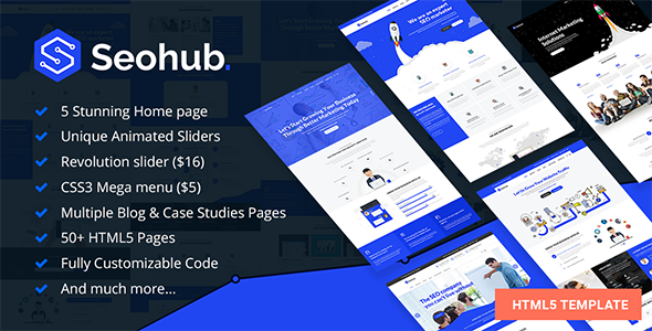 SEOhub - SEO, Marketing, Social Media, Multipurpose HTML5 Template - Marketing Corporate TFx Royston Riku