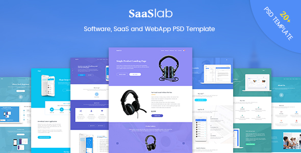 SaaSLab - Software, SaaS and WebApp PSD Template - Software Technology TFx Elroy Yuuta