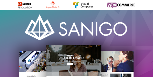 Sanigo Modern Technology WordPress Theme - Technology WordPress TFx Yoshirou Maximilian
