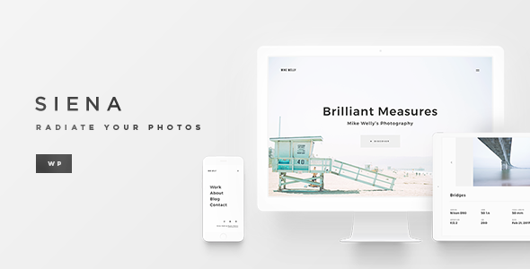 Siena - Clean Photography Theme for WordPress - Photography Creative TFx Lawrie Bronte