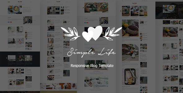 Simple Life - Responsive Blog Template - Personal Site Templates TFx Jerald Earle