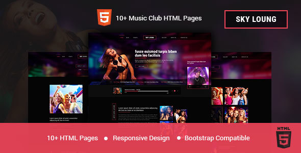 Sky Loung - DJ, Music, Club HTML Template - Nightlife Entertainment TFx Sylvester Ray