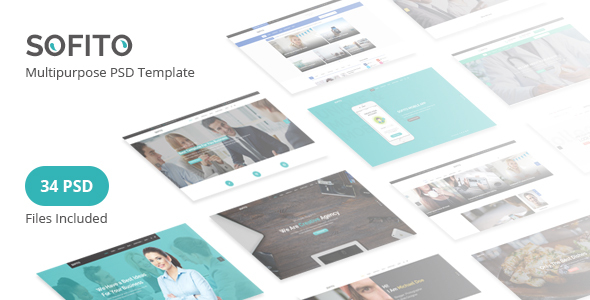Sofito - Multipurpose PSD Template - Corporate PSD Templates TFx Devon Baz