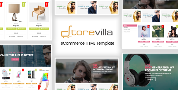 StoreVilla - Multipurpose eCommerce Template - Shopping Retail TFx Emmerson Arlie