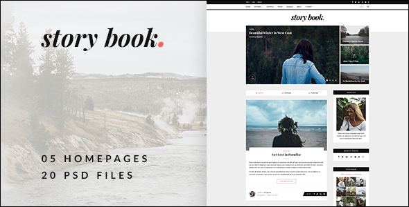 Story Book - Elegant Blog PSD Template - Personal PSD Templates TFx Jeptha Alphonsus