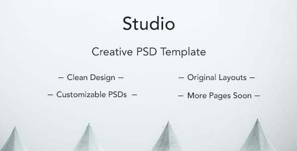 Studio Clean PSD Template - Creative PSD Templates TFx Graeme Jemmy