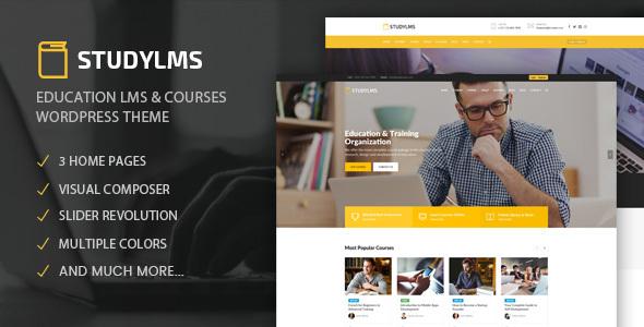 Studylms - Education LMS & Courses WordPress Theme - Education WordPress TFx Lowell Patrick