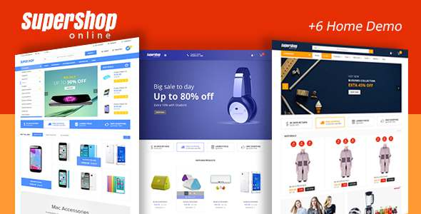 Supershop - Market PSD Template - PSD Templates  TFx Dashiell Gallagher