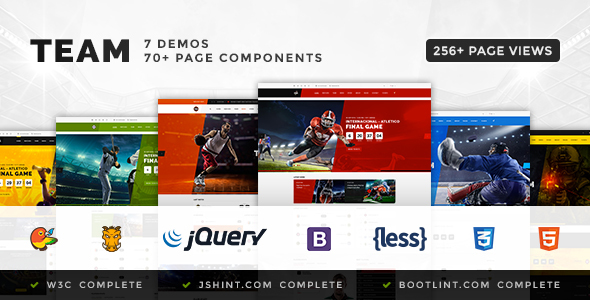 Team - Soccer, Football, Hockey, Basketball | eSport & Gaming | Sport Club HTML Template - Entertainment Site Templates TFx Joseph Tate
