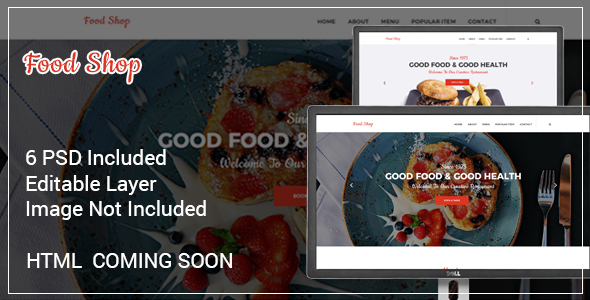 The Restaurant PSD Template - Food Retail TFx Brendan Rickey