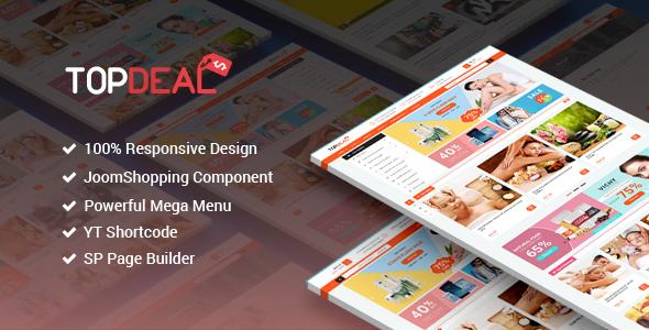 TopDeal – Responsive Multipurpose Deal, eCommerce Joomla Template – Retail Joomla TFx Russ Sonny