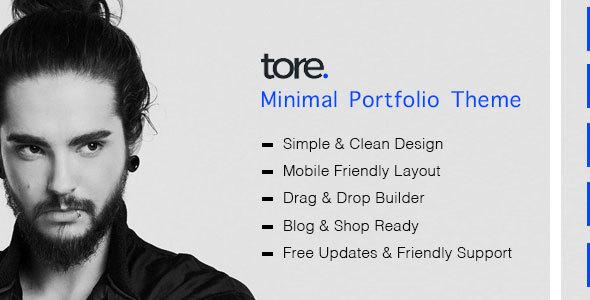 Tore - Minimal Portfolio Theme - Portfolio Creative TFx Elliot Ted