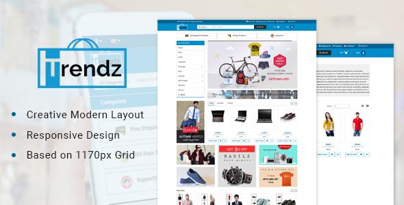 Trendz-Multipurpose Ecommerce Opencart Theme - OpenCart eCommerce TFx Baz Greer