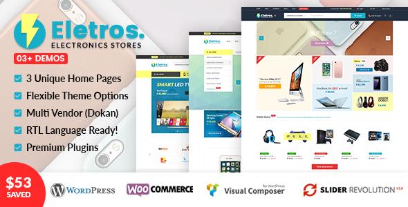 VG Eletros - Electronics Store WooCommerce Theme - WooCommerce eCommerce TFx Stephen Grigor